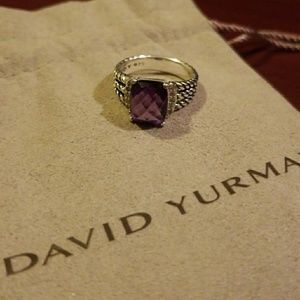DAVID YURMAN Pet Whtn w/ Amethyst & Diamonds